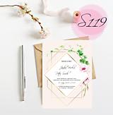 Papiernictvo - svadobné oznámenie 119 - 11270419_
