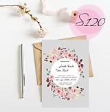 Papiernictvo - svadobné oznámenie S120 - 11270429_
