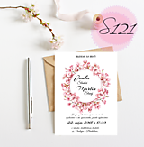 Papiernictvo - svadobné oznámenie S121 - 11270440_