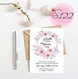 Papiernictvo - svadobné oznámenie 122 - 11270484_