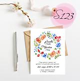 Papiernictvo - svadobné oznámenie 123 - 11270489_