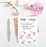Papiernictvo - svadobné oznámenie S129 - 11270591_