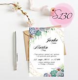 Papiernictvo - svadobné oznámenie 130 - 11270882_