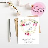 Papiernictvo - svadobné oznámenie 135 - 11270958_
