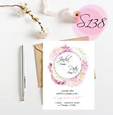 Papiernictvo - svadobné oznámenie S138 - 11271016_