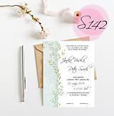 Papiernictvo - svadobné oznámenie 142 - 11271112_