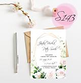 Papiernictvo - svadobné oznámenie S143 - 11271161_