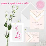 Papiernictvo - svadobné oznámenie S144 - 11271180_