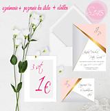 Papiernictvo - svadobné oznámenie 145 - 11271205_