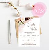 Papiernictvo - svadobné oznámenie 150 - 11271271_
