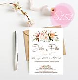 Papiernictvo - svadobné oznámenie 151 - 11271294_