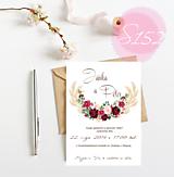Papiernictvo - svadobné oznámenie S152 - 11271314_