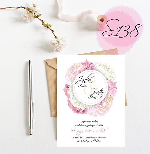 svadobné oznámenie S138