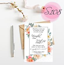 Papiernictvo - Svadobné oznámenie S108 - 11269131_