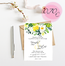 Papiernictvo - Svadobné oznámenie S103 - 11269183_