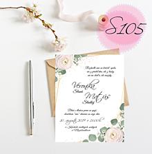 Papiernictvo - svadobné oznámenie S105 - 11269754_