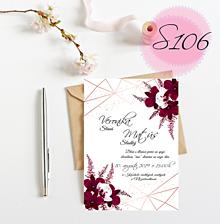 Papiernictvo - svadobné oznámenie S106 - 11269780_