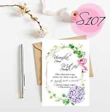 Papiernictvo - svadobné oznámenie S107 - 11269820_