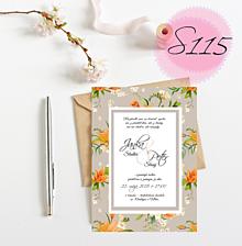 Papiernictvo - svadobné oznámenie 115 - 11270035_