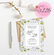 Papiernictvo - svadobné oznámenie 116 - 11270048_