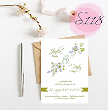 Papiernictvo - svadobné oznámenie S118 - 11270383_