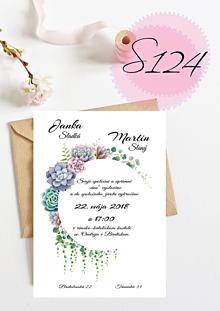 Papiernictvo - svadobné oznámenie 124 - 11270496_