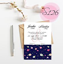 Papiernictvo - svadobné oznámenie 126 - 11270539_