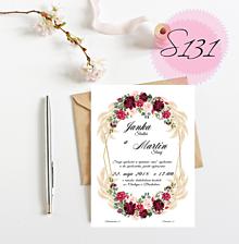 Papiernictvo - svadobné oznámenie 131 - 11270893_