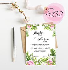 Papiernictvo - svadobné oznámenie 132 - 11270906_