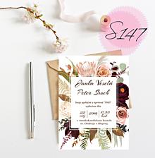 Papiernictvo - svadobné oznámenie 147 - 11271218_