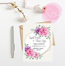 Papiernictvo - svadobné oznámenie S154 - 11271391_