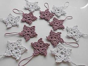 Dekorácie - Závesné dekorácie/háčkované vianočné hviezdičky 2 - 11269755_