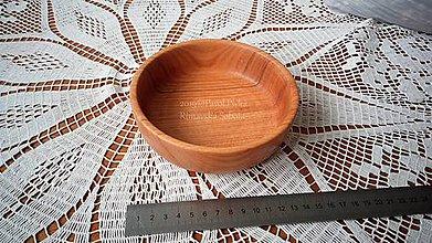 Nádoby - Miska z dreva (Čerešňa) - 11269856_