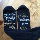 Obuv - Maľované ponožky pre ženícha - 11268260_