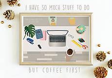 Grafika - Coffee first illustration - 11270498_
