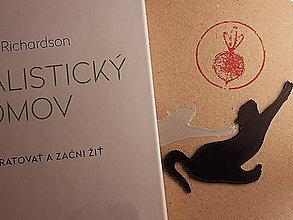 Papiernictvo - Záložka do knihy - mačka (Strieborná) - 11268425_