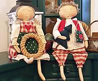 Dekorácie - Snívajúci anjeli Valentínka a Valentín - 11268652_