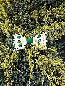Doplnky - Zelený motýlik  (Čierno-biela) - 11271478_