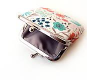Peňaženky - Peňaženka mini Pestré kvietky - 11270071_