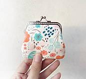 Peňaženky - Peňaženka mini Pestré kvietky - 11270072_