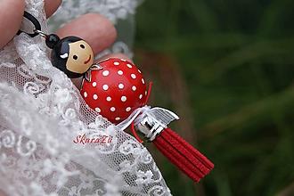 Sady šperkov - Bodkovaná bábika červená - 11270158_