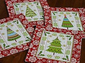Úžitkový textil - prestierania stromčeky - 11269887_