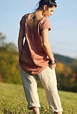Nohavice - Lněné turky režné - 11271054_