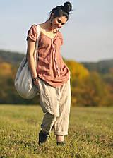 Nohavice - Lněné turky režné - 11271055_