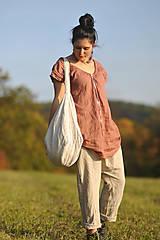 Nohavice - Lněné turky režné - 11271056_