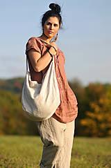 Nohavice - Lněné turky režné - 11271057_