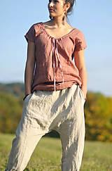 Nohavice - Lněné turky režné - 11271058_