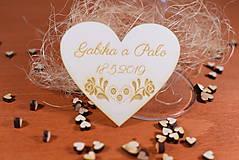 Darčeky pre svadobčanov - Drevená svadobná magnetka Ľudový motív 27 - 11268339_