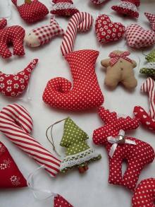 Dekorácie - Vianočné ozdoby -Čižmičky - 11269778_