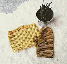 Detské tašky - Háčkovaná dievčenská kabelka a žinka na umývanie - 11273566_